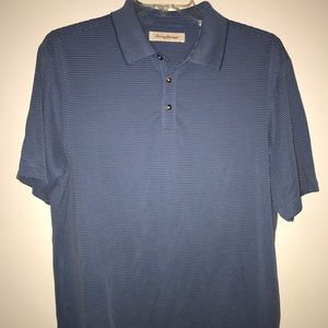 Tommy Bahama blue short sleeve men's golf shirt L